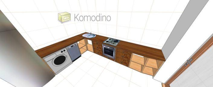 3D проект кухні Комодіно