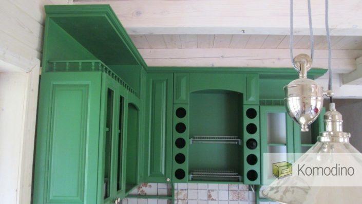 зелена деревяна кухня львів