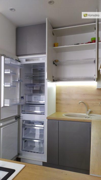 Кухня без ручок Львів фото