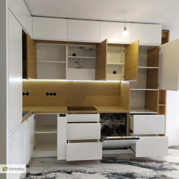 МДФ кухня без ручок на замовлення