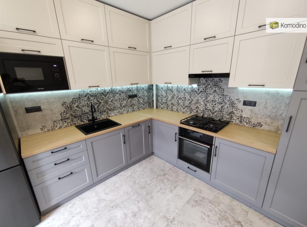 дизайн матової мдф кухні